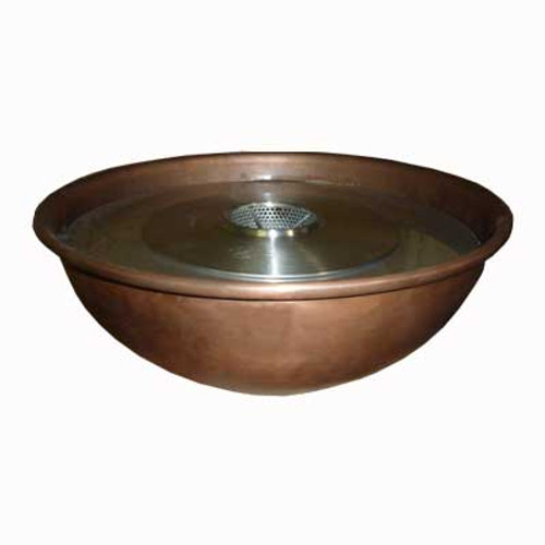 "18"" ethanol burning copper fire bowl"