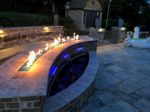 60 Quot Curved Fire Pit Kit Flame Creation