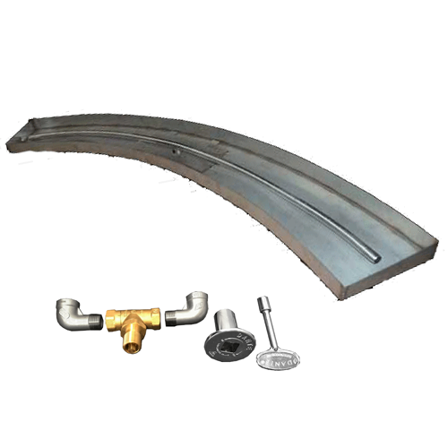 "72"" curved burner kit with components"