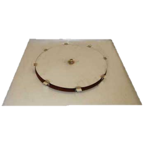"""34"""" flat square fire pit disc with 18"""" access plate"""