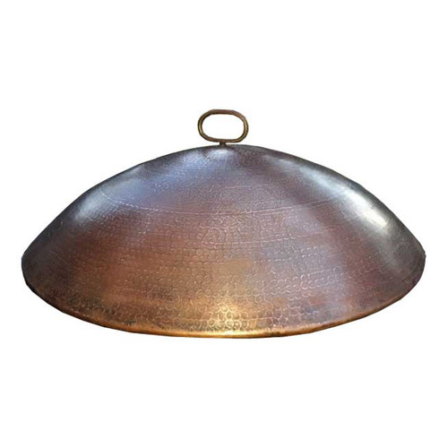 Dome copper fire pit cover