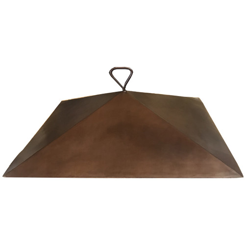 """36"""" copper dome fire pit cover with an 8"""" height"""