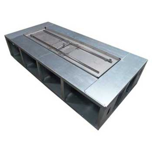 rectangle fire pit frame with wide deck