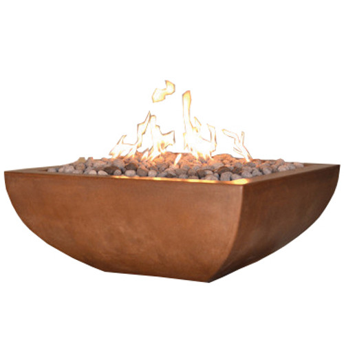 Luxor fire pit in deep amber