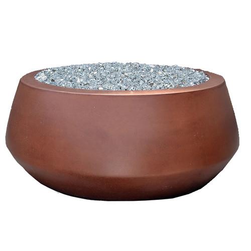 Bella fire bowl in amber