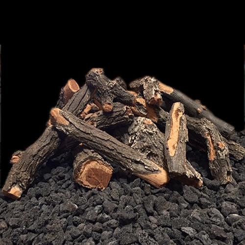 weathered oak fire pit logs