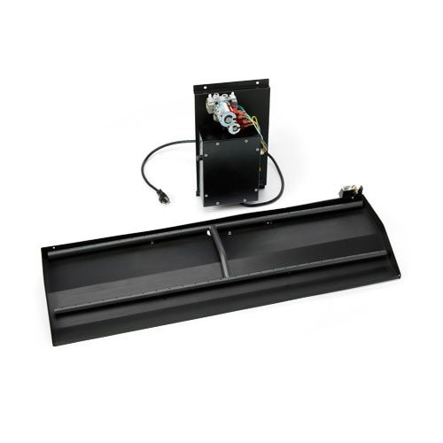 Outdoor fireplace electronic h-burner