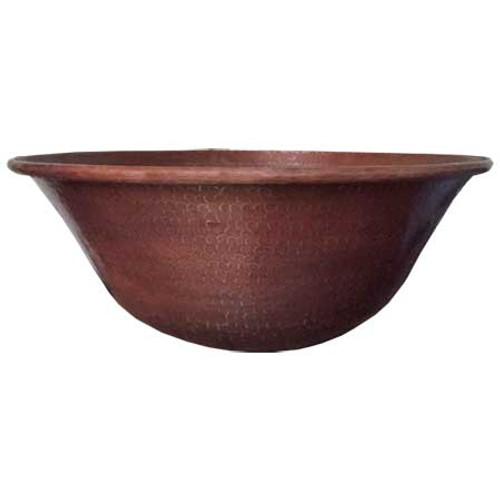 Mediterranean Hammered Copper Fire Bowl 18