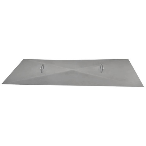 Stainless steel flat rectangle fire pit cover