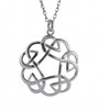 Round Celtic Interlace Pendant Necklace