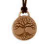 Celtic Tree of Life Disk Pendant on Leather Thong