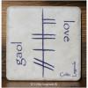 Love Scottish Gaol Ogham 4x4 Coaster Tile