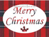 Inverness Tartan Merry Christmas Greeting Card