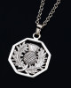 Octagon Thistle Pendant Necklace