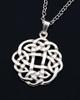 Round Celtic Knot Interlace Pendant Necklace