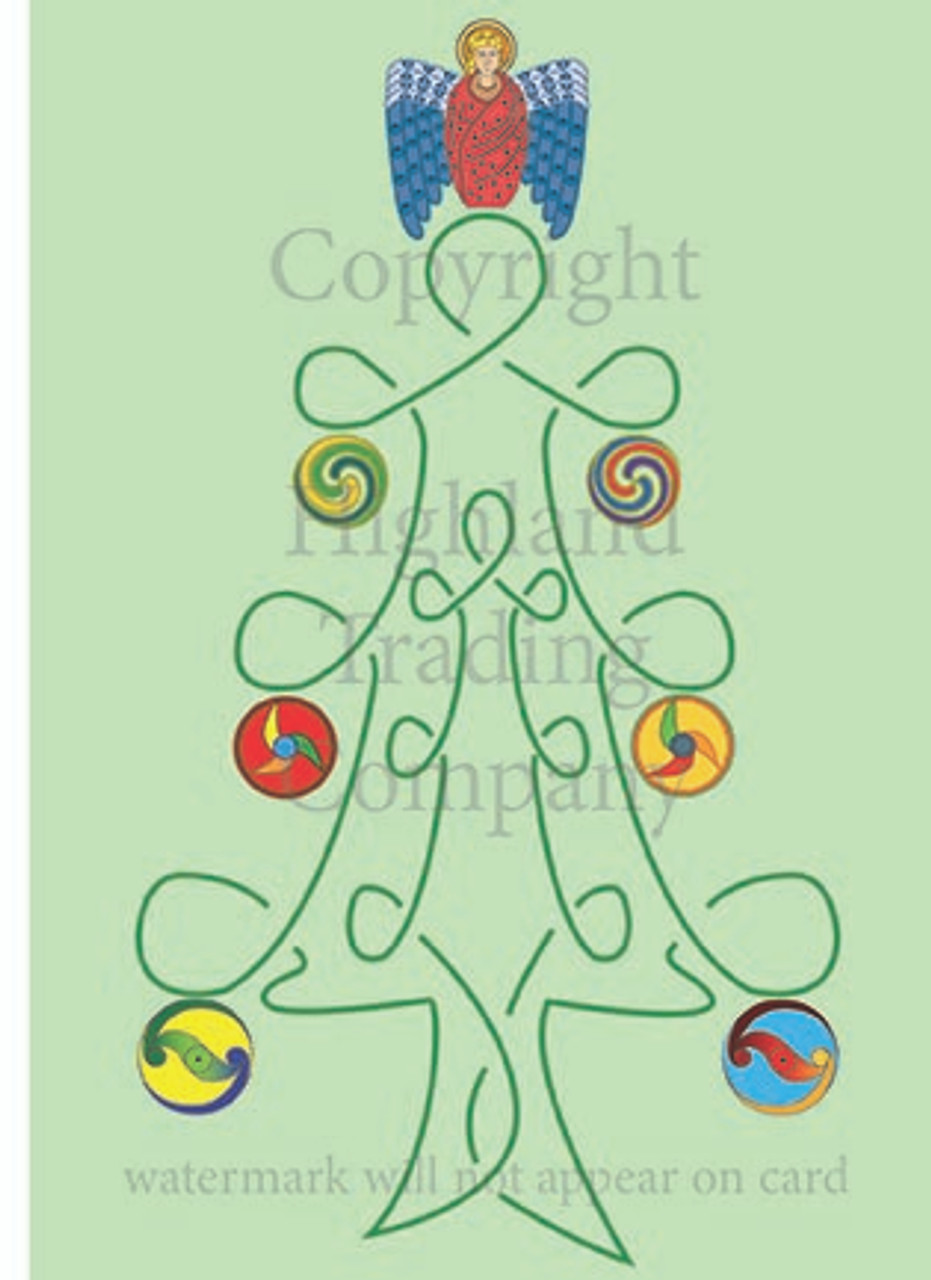 Tree of Life Christmas Tree Greeting Card