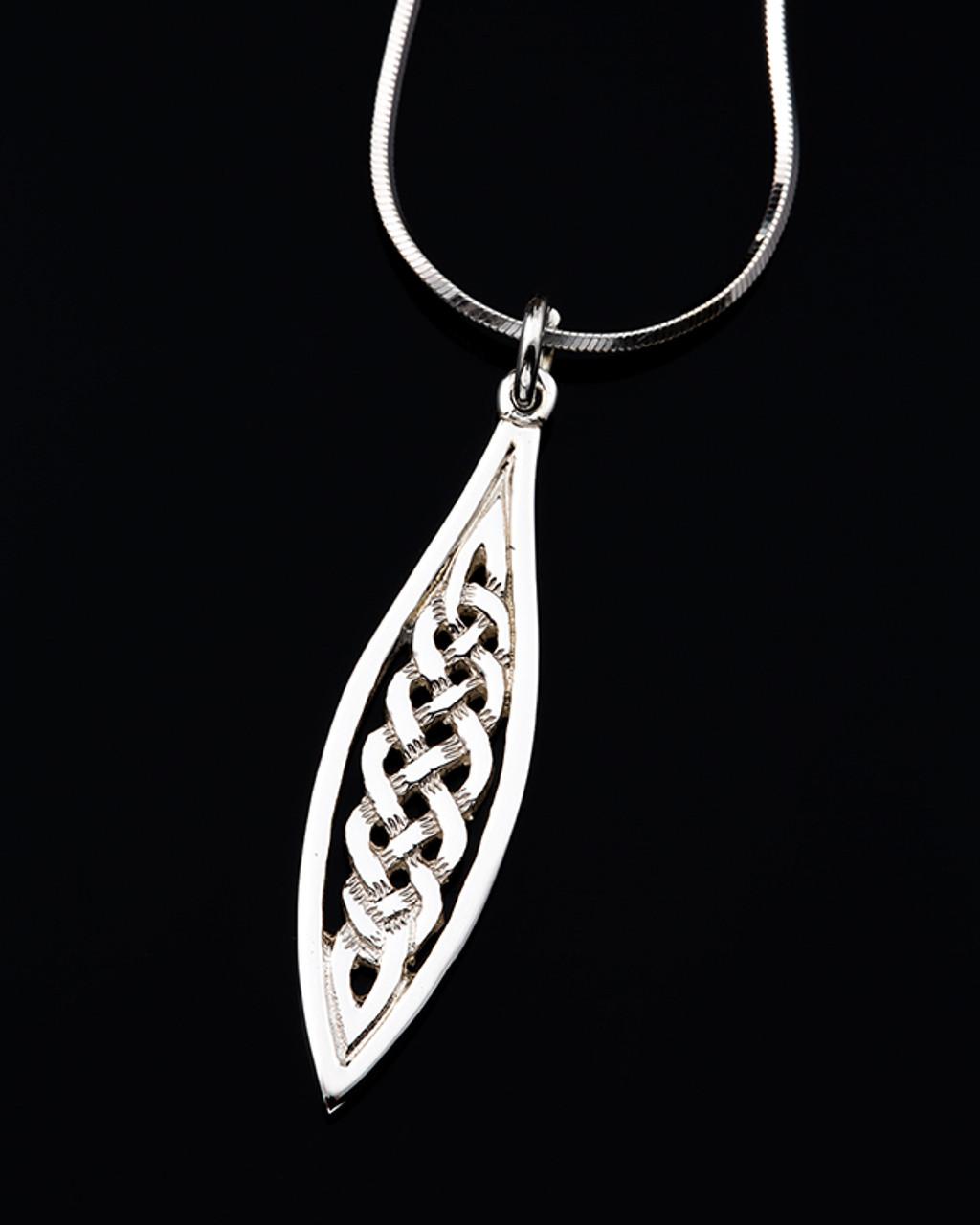 Celtic Knot Drop Pendant Necklace