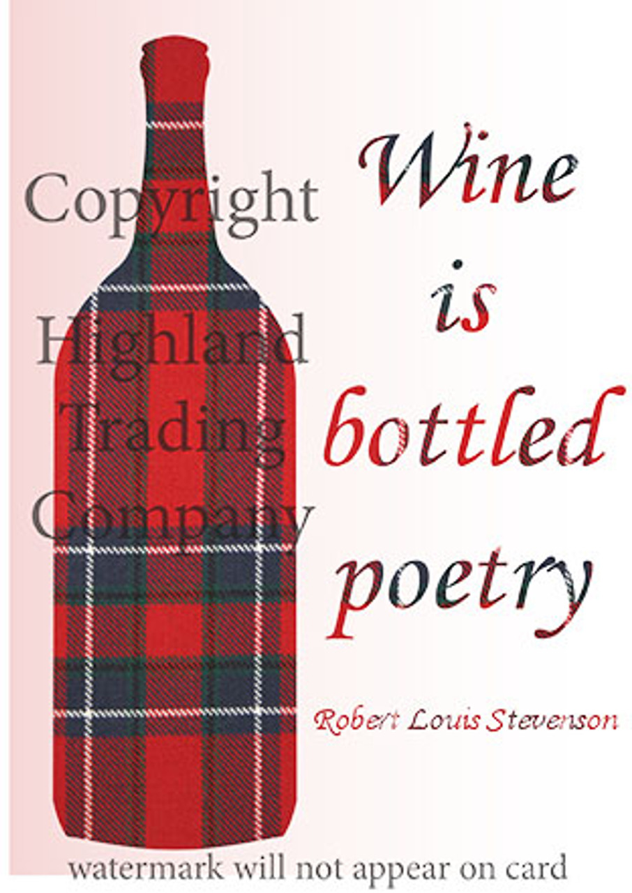 Wine is Bottled Poetry Greeting Card