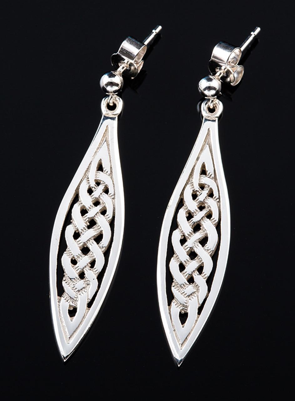 Celtic Weave Drop Earrings