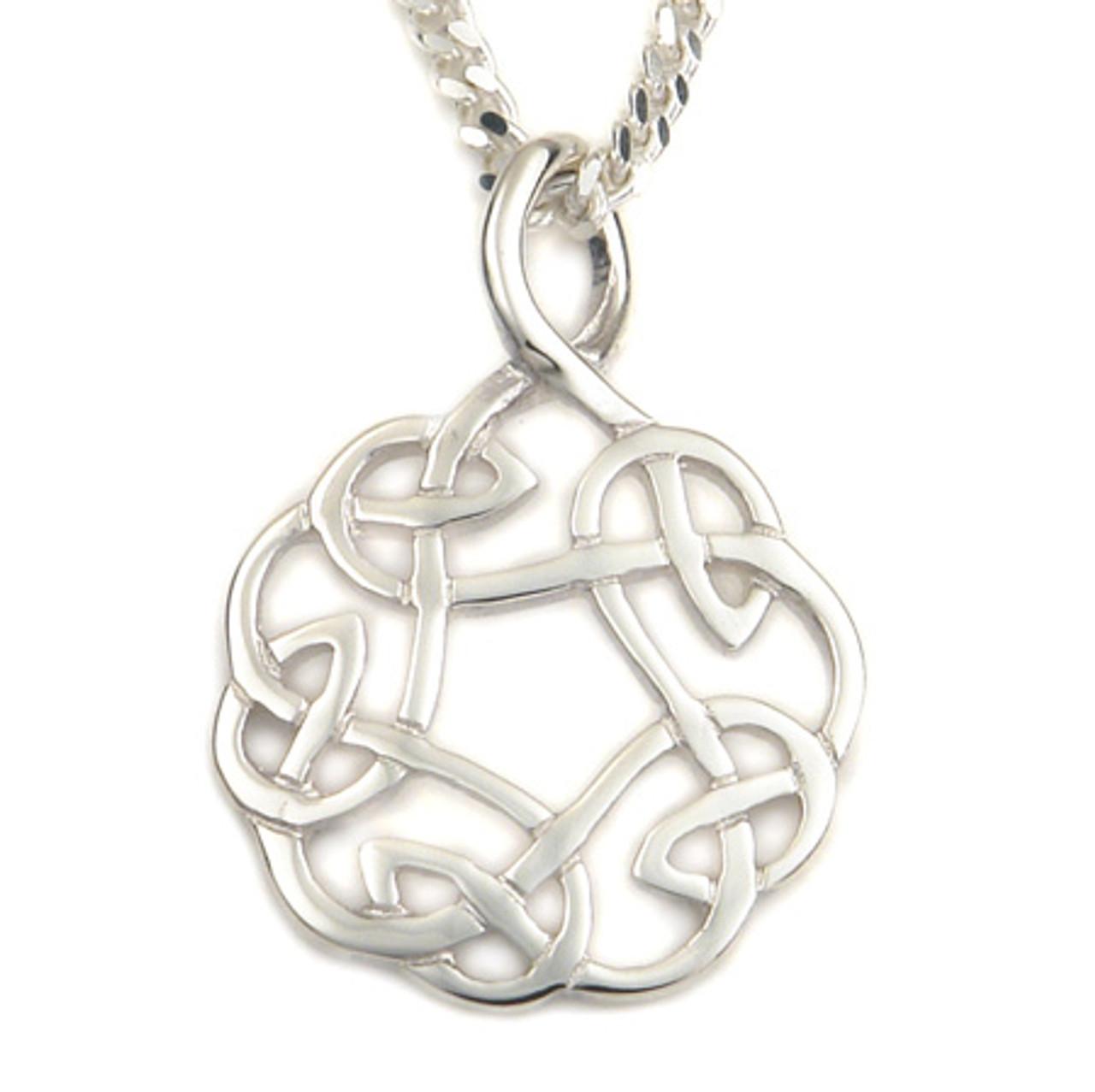 Celtic Knot Interlacing Pendant Necklace