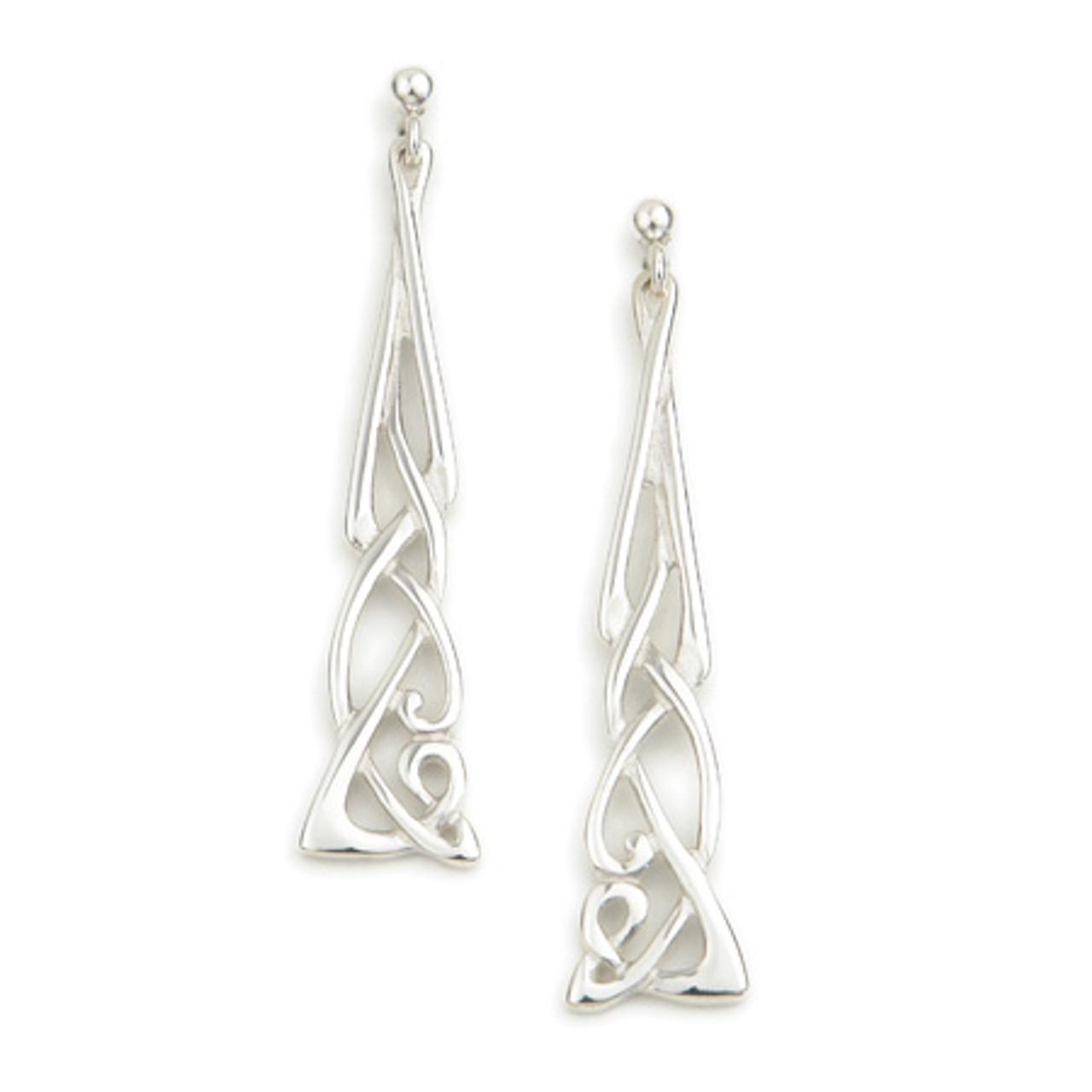 Long Dangly Celtic Knot Earrings