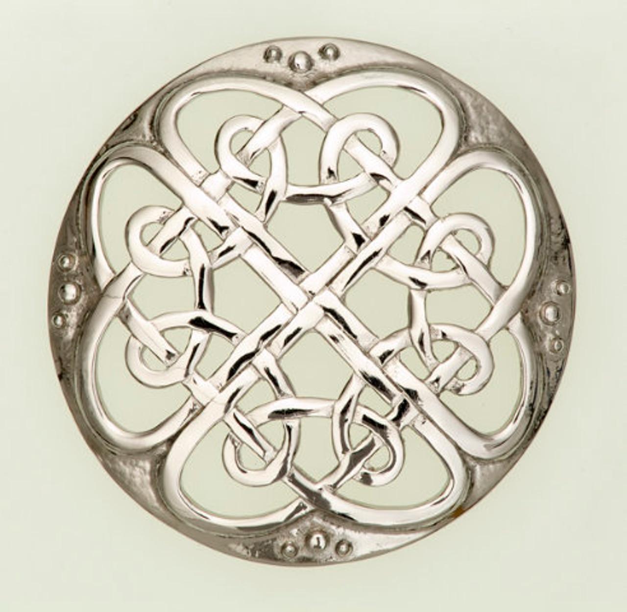 Large Celtic Interlace Brooch