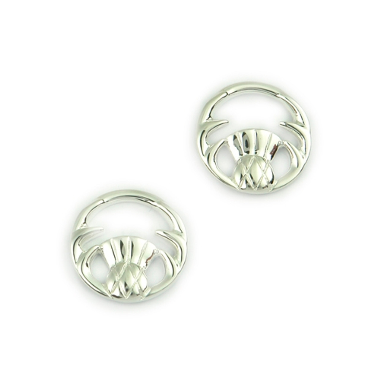 Round Thistle Post Earrings