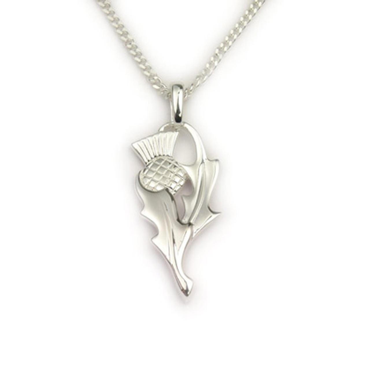 Fine Thistle Pendant Necklace