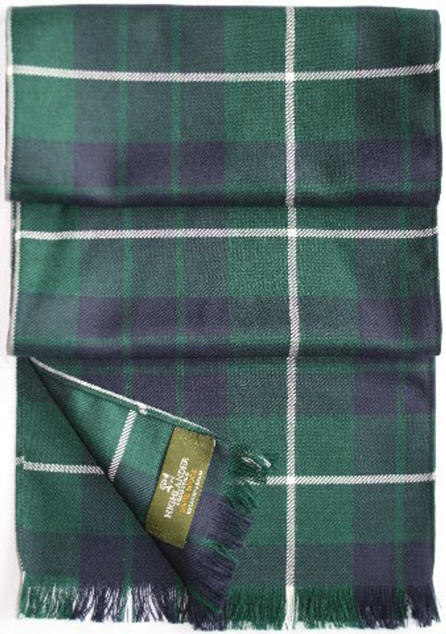 Tartan Plaid Wool Scarf -  MacDonnell to Young