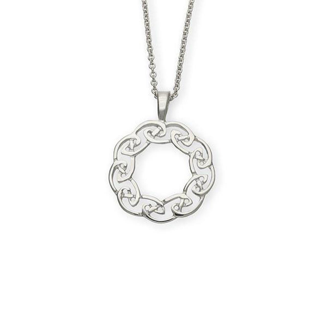 Round Celtic Lace Pendant Necklace
