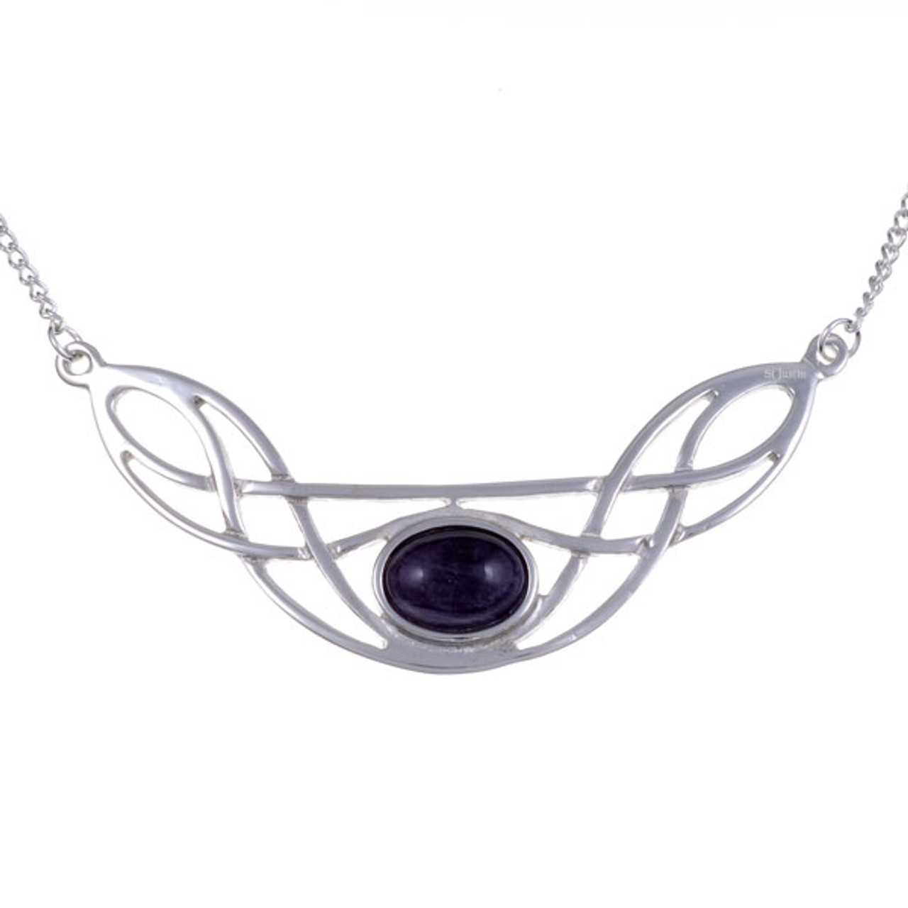 Celtic Knot Necklace with Amethyst Gemstone