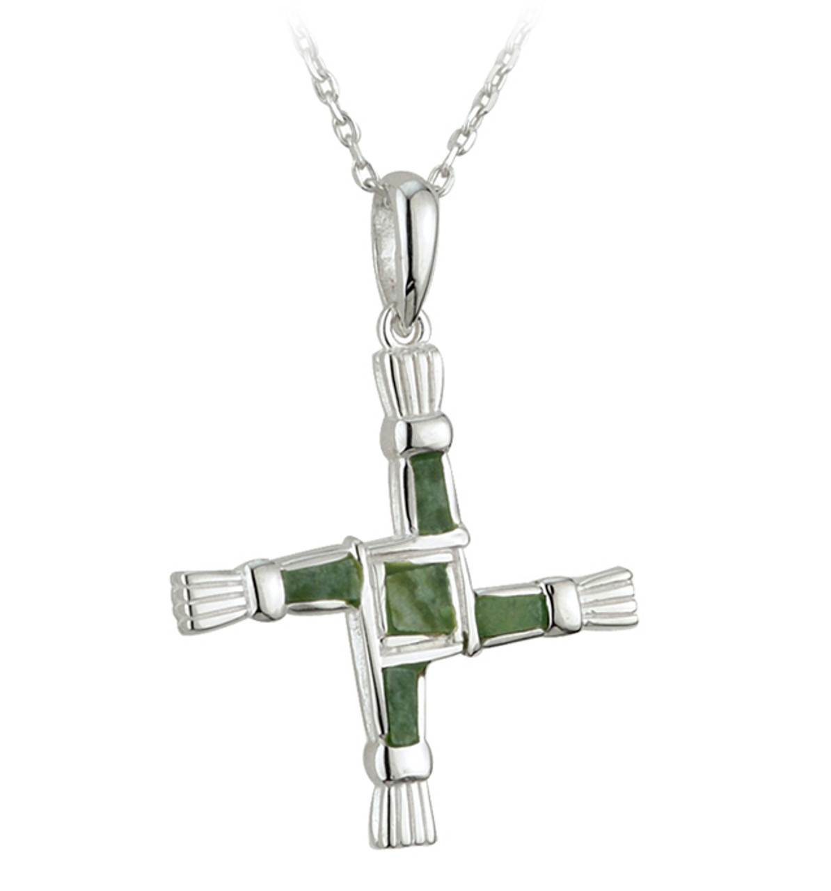 St. Brigid's Cross with Connemara Marble