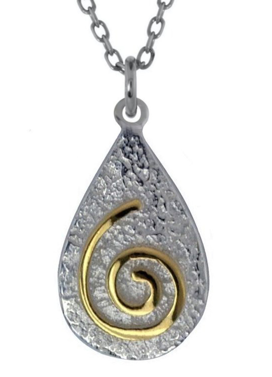 Newgrange Spiral Pendant Necklace