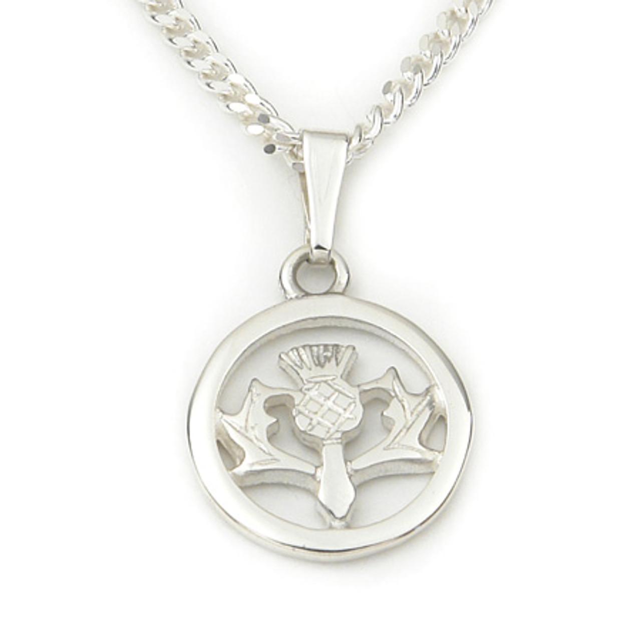 Round Thistle Pendant Necklace