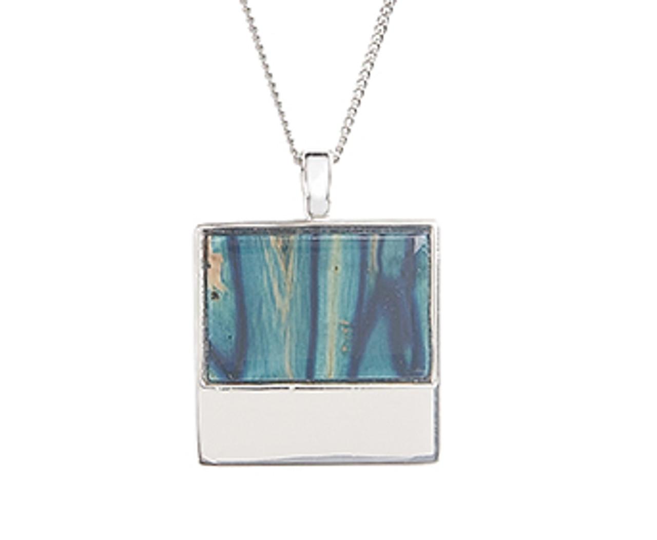 Skye Silver Square Pendant Necklace