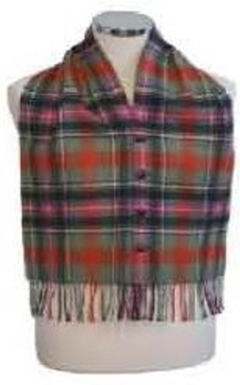 Tartan Plaid Scarf Waistcoat
