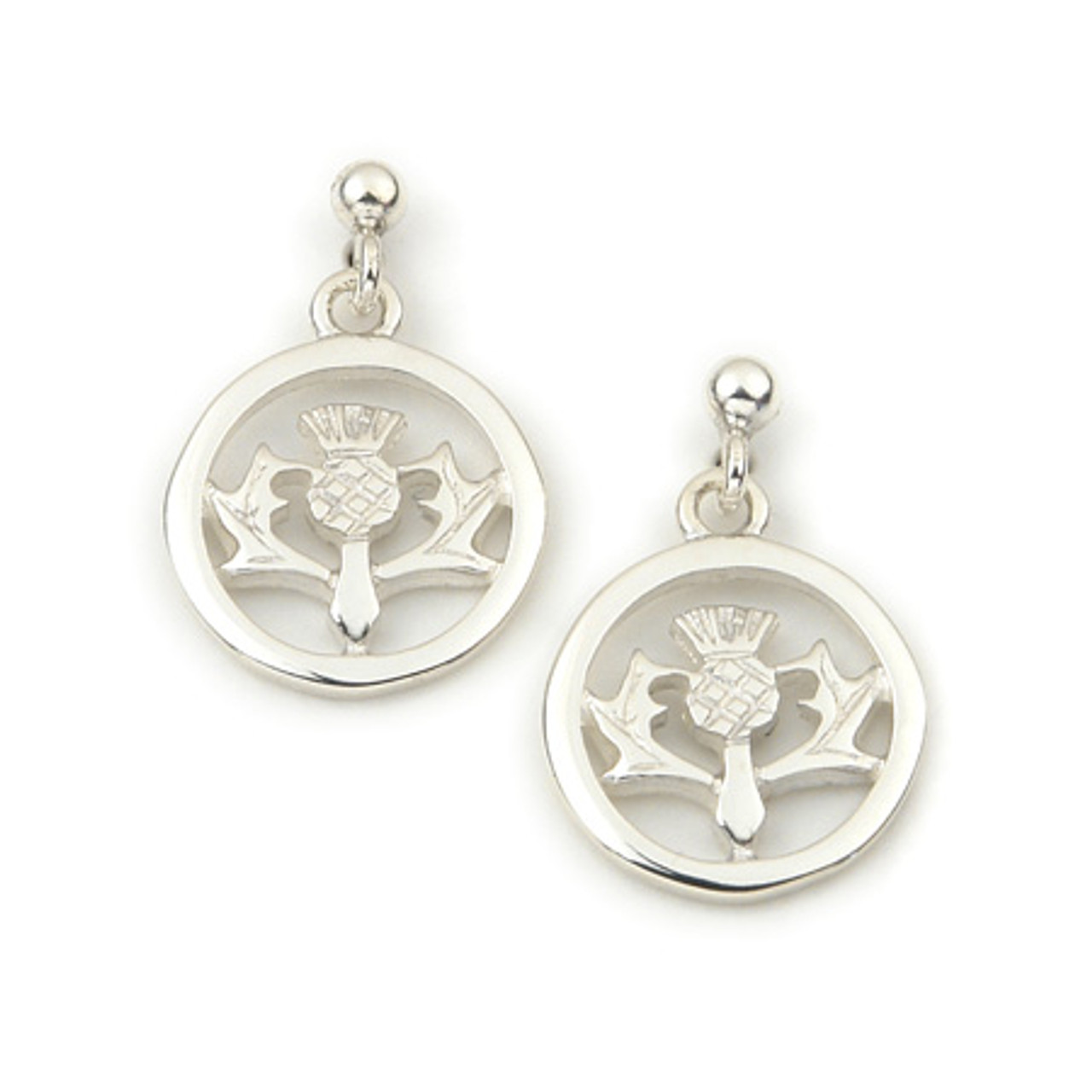 Round Thistle Earrings