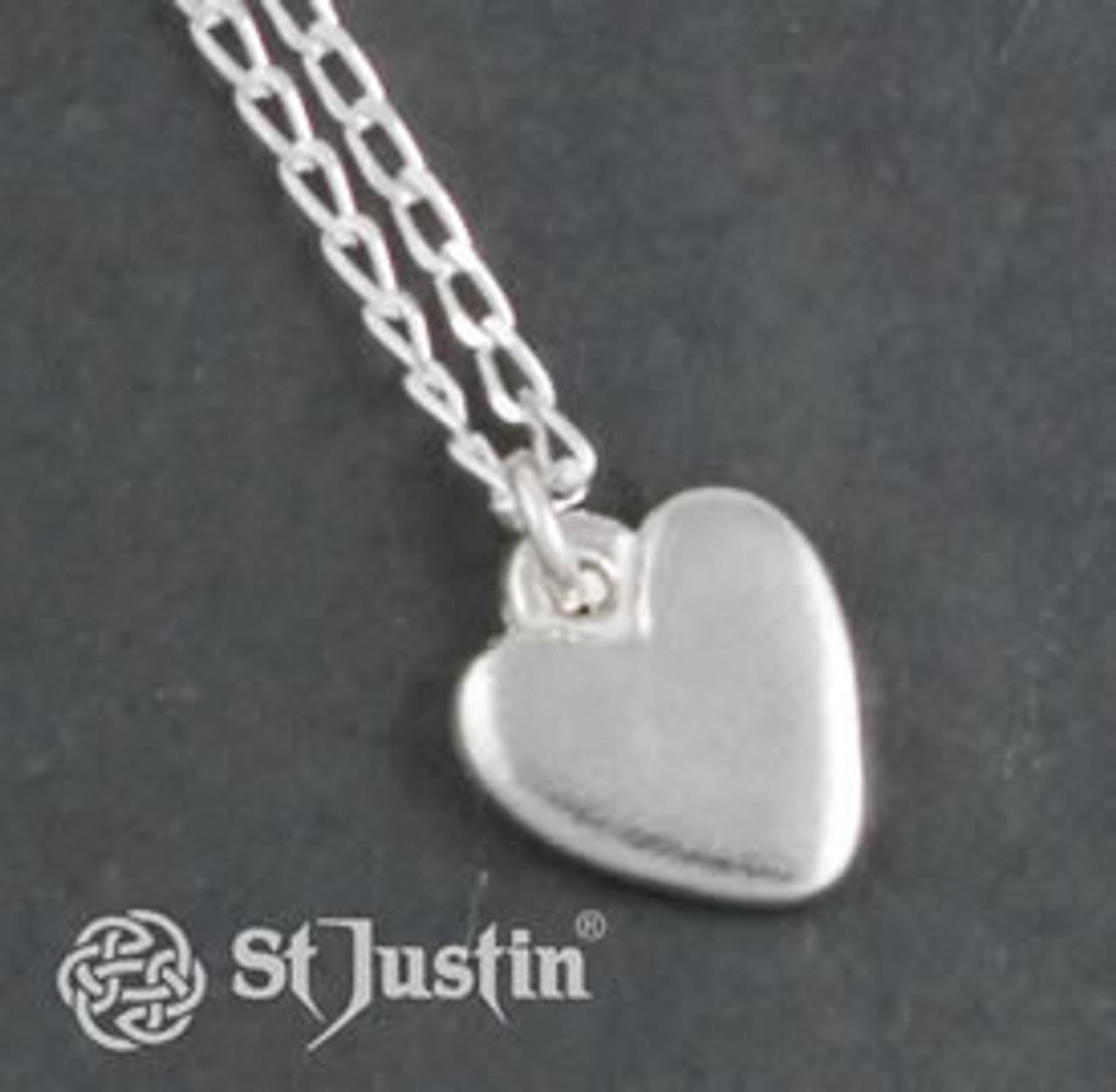 Polished Heart Pendant Necklace