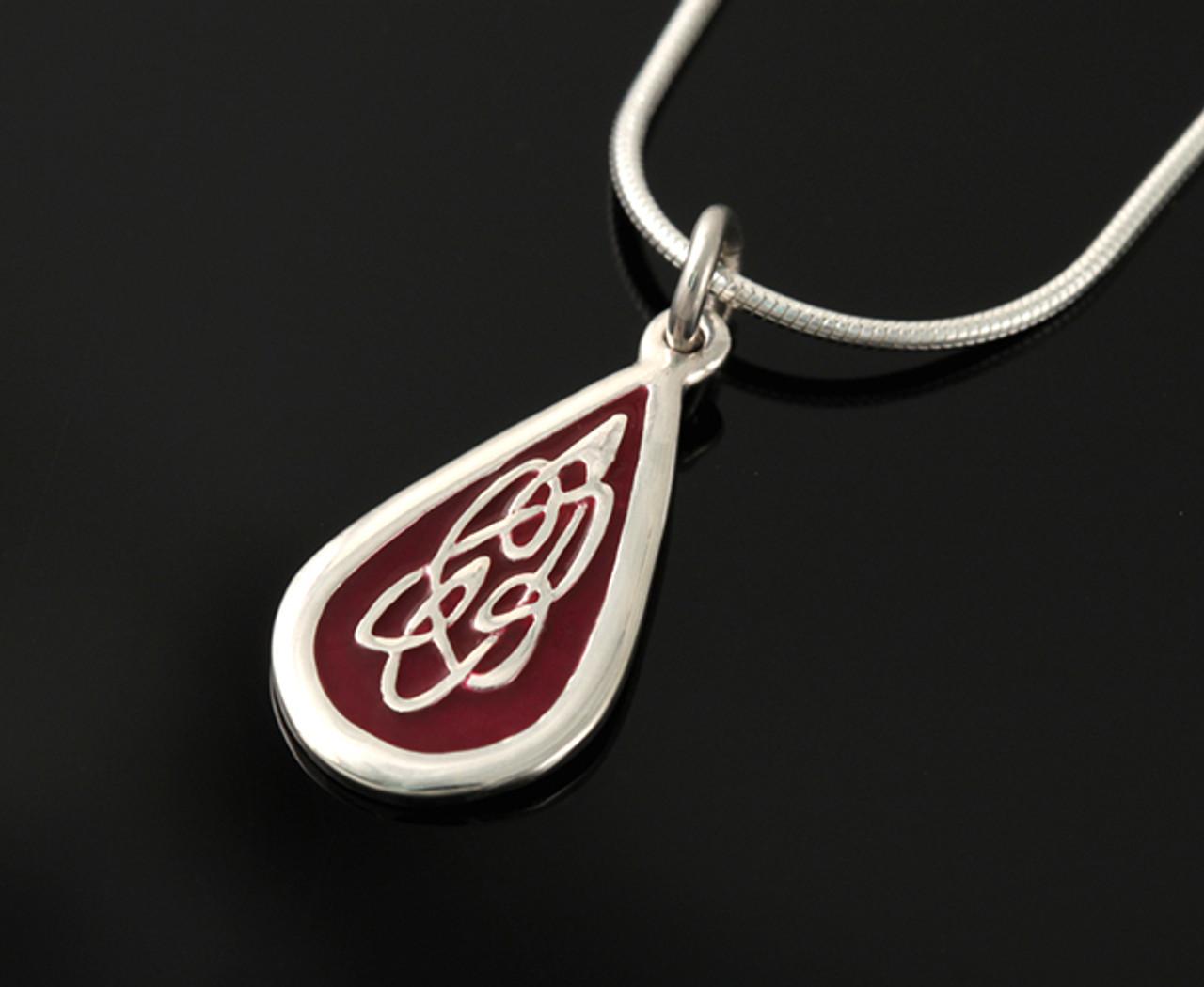 Celtic Fire Pendant Necklace