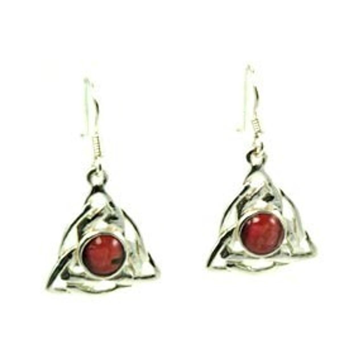 Triangular Celtic Knot Earrings
