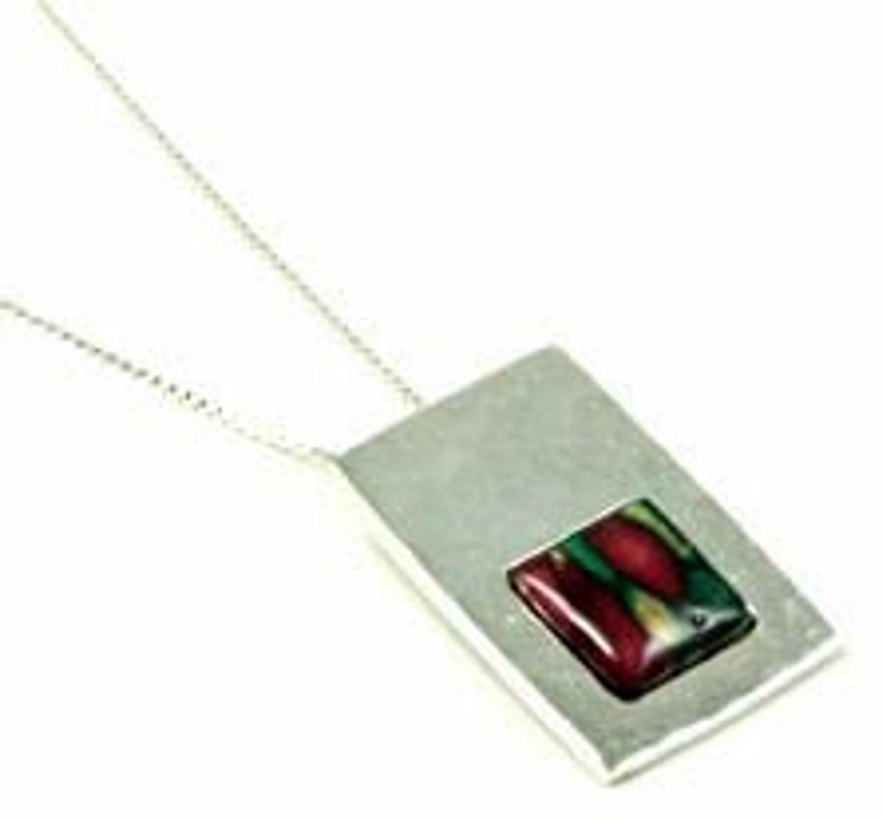 Rectangular Pendant  Necklace
