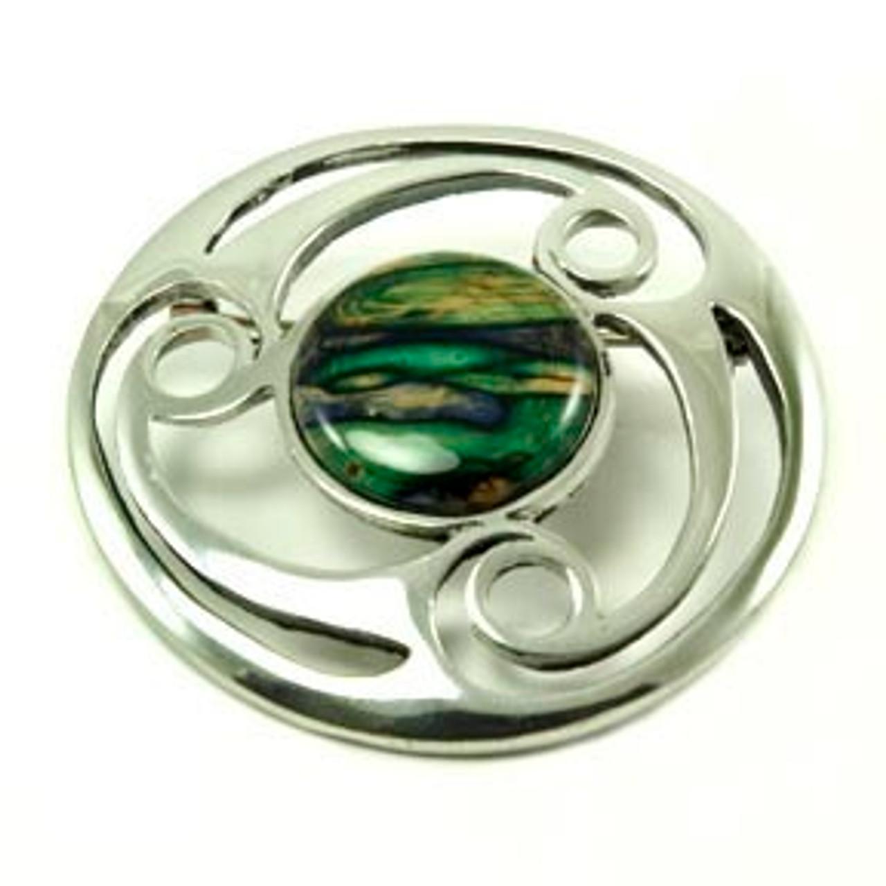 Celtic Spiral Brooch
