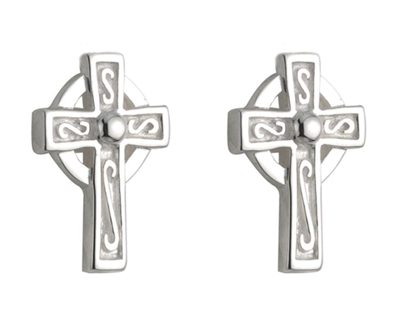 Celtic Cross Post Earrings
