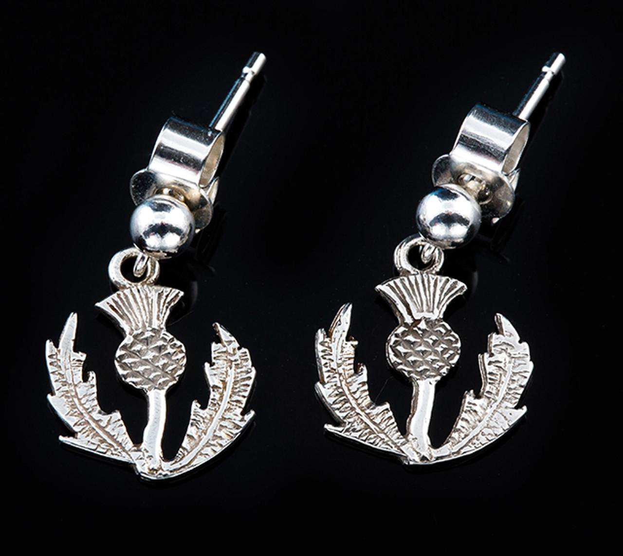 Thistle Dangly Drop Earrings