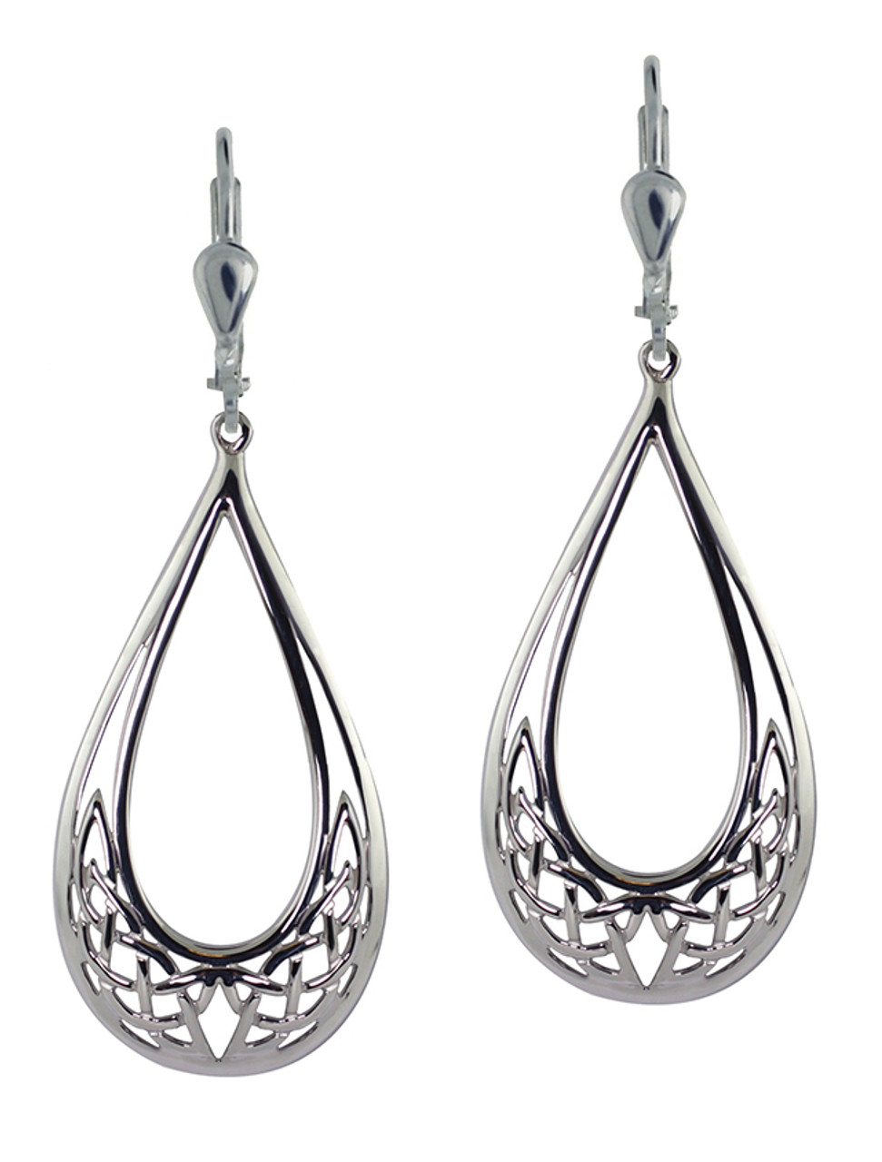 Tear Drop Celtic Knot Earrings