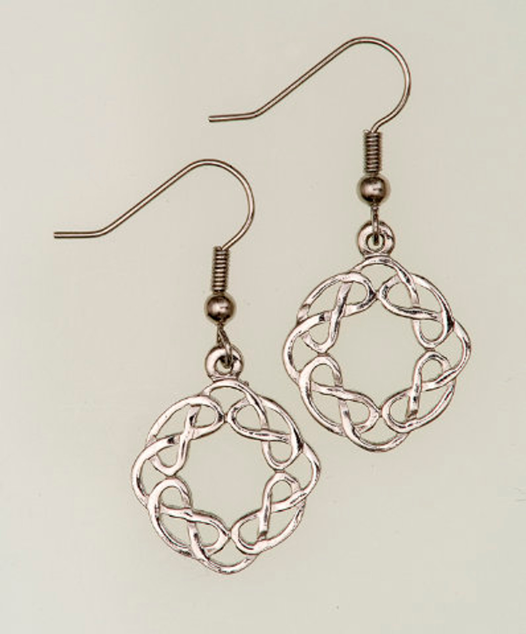 Round Celtic Interlace Earrings