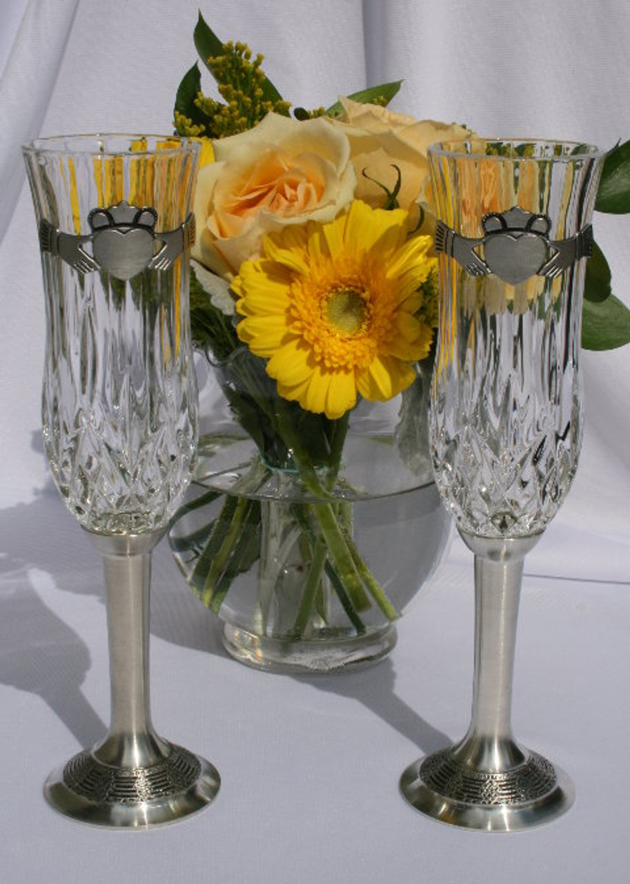 Claddagh Crystal Glasses SAVE 25%