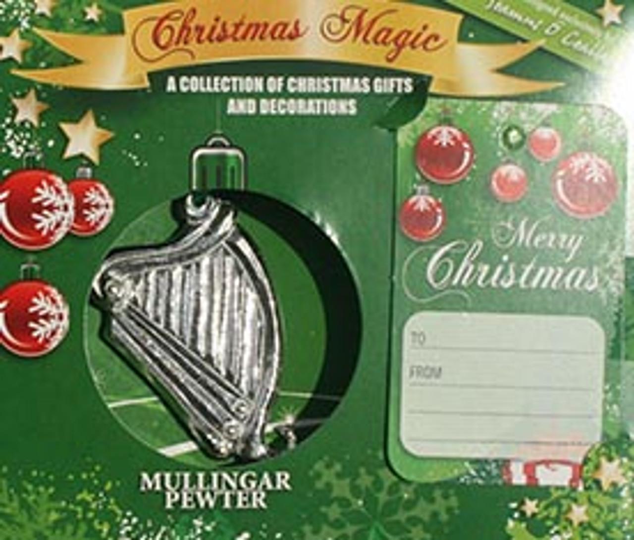 Harp Christmas Ornament