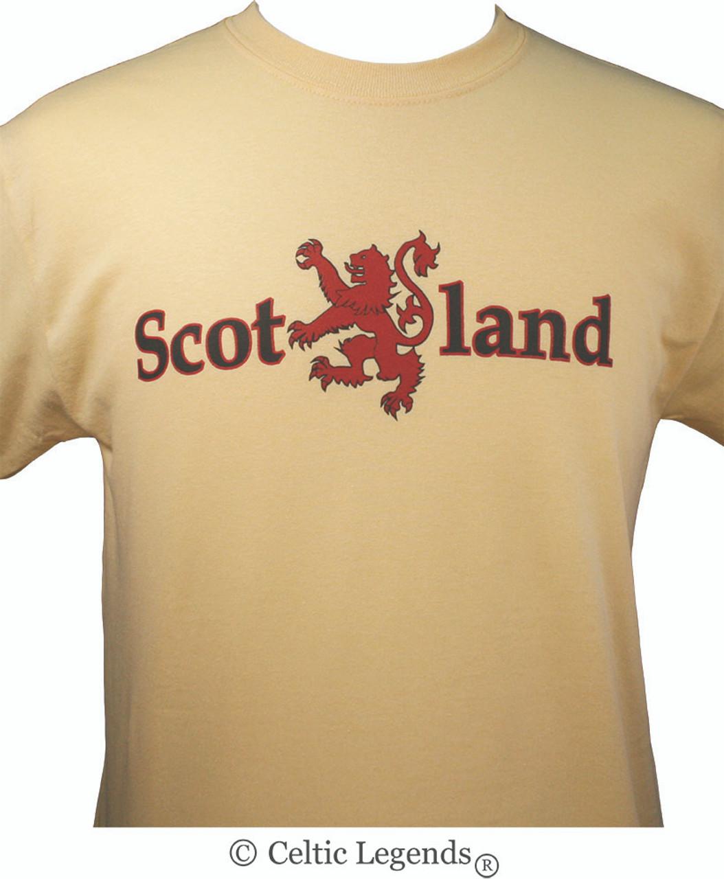 LION RAMPANT SCOTLAND logo T Shirt scottish