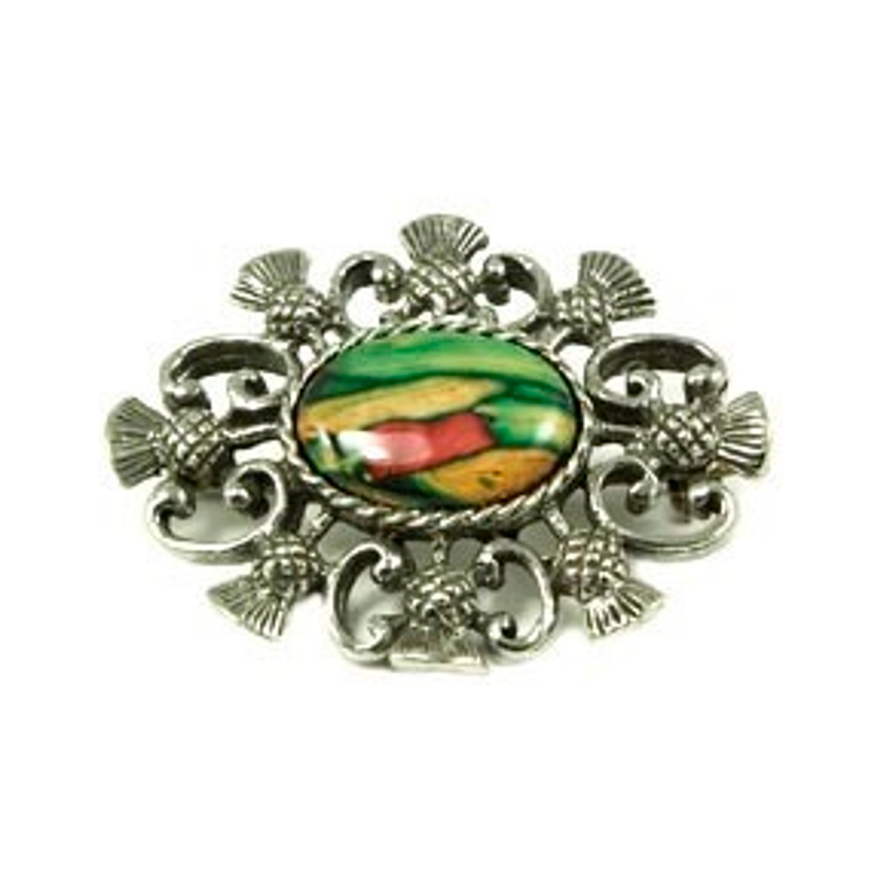 Oval Thistle Brooch